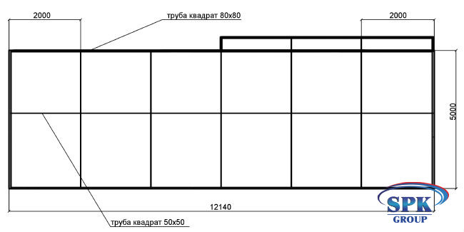 Окрасочно-сушильная камера для металлоконсрукций SPK-12.6.5 Россия