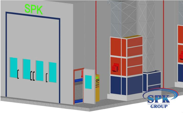 Окрасочно сушильная камера для блочных конструкций SPK 14x6x5 Россия-Германия