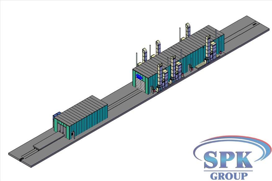 Окрасочно-сушильный комплекс для металлоконструкций проходного типа SPK-30.6.5