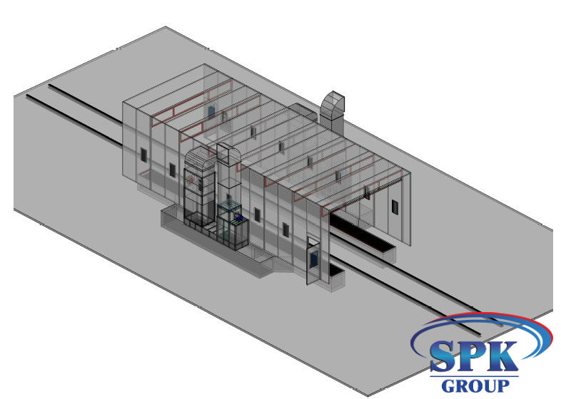 Окрасочно-сушильная камера для металлоконструкций SPK Италия