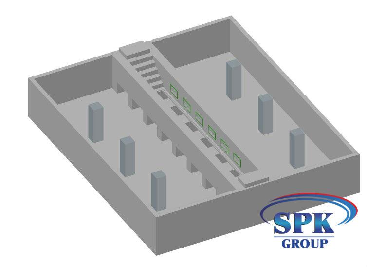 Промышленная покрасочно-сушильная камера для спецтехники SPK-12.7.6