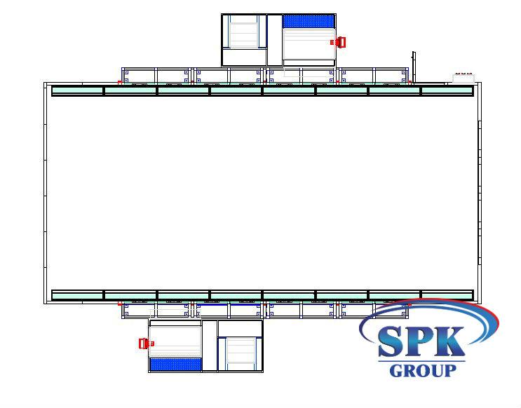 Окрасочно сушильная камера грузового транспорта SPK 12х5х5
