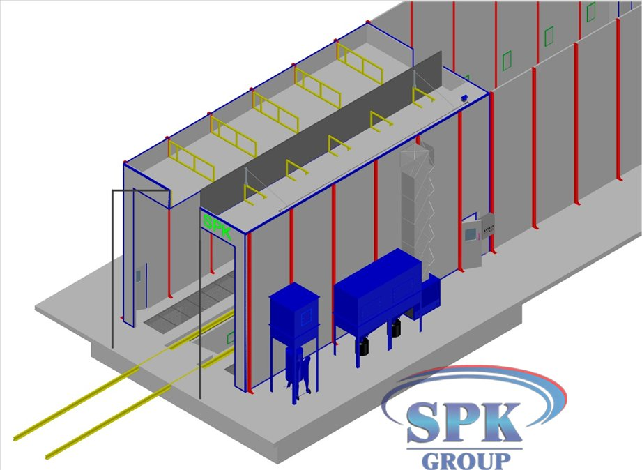 Проходной комплекс для подготовки и покраски грузовых авто SPK-36.6.6