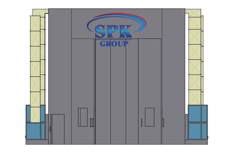 Окрасочно сушильная камера для окраски цистерн и емкостей под давлением SPK 24.8.8