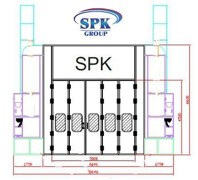 Окрасочно-сушильная камера для электровозов SPK-23x6x6 Россия