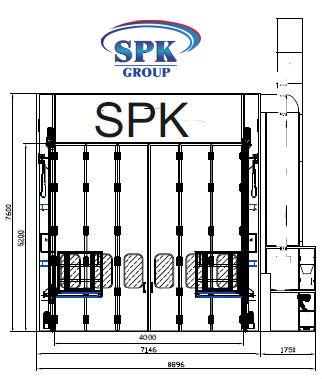 Окрасочно-сушильная камера для вагонов проходная SPK-26.7.7