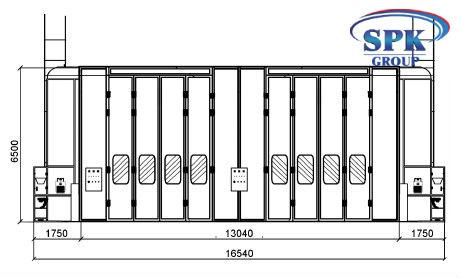 Модернизация проходной окрасочно сушильной камеры для вагонов SPK-25.13.6