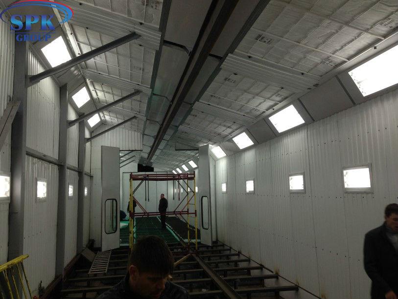Модернизация проходной окрасочно сушильной камеры с существующей системой вентиляции и холодным ангаром (Уличная установка)