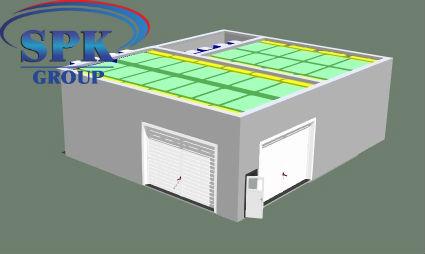 Окрасочно сушильная камера для кабин электровозов SPK-16x14x5 Россия