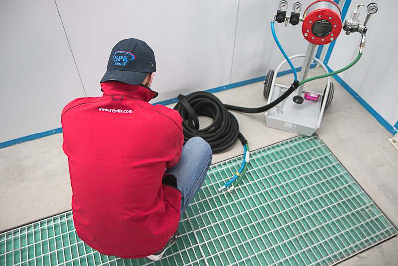 Покрасочно-сушильная камера для металлоконструкций, г. Астана (Казахстан)
