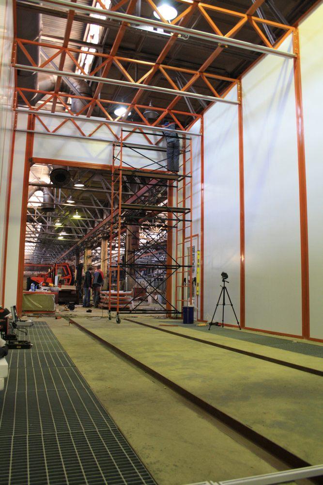 Покрасочно-сушильная камера для вилочных погрузчиков и металлоконструкций (Невьянский Машиностроительный Завод, г. Невьянск)