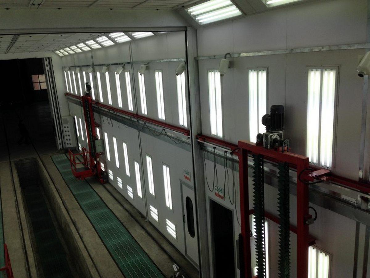 Покрасочная камера для локомотивов с рабочей температурой до 80 град. С SPK-22.6.6 г. Шадринск