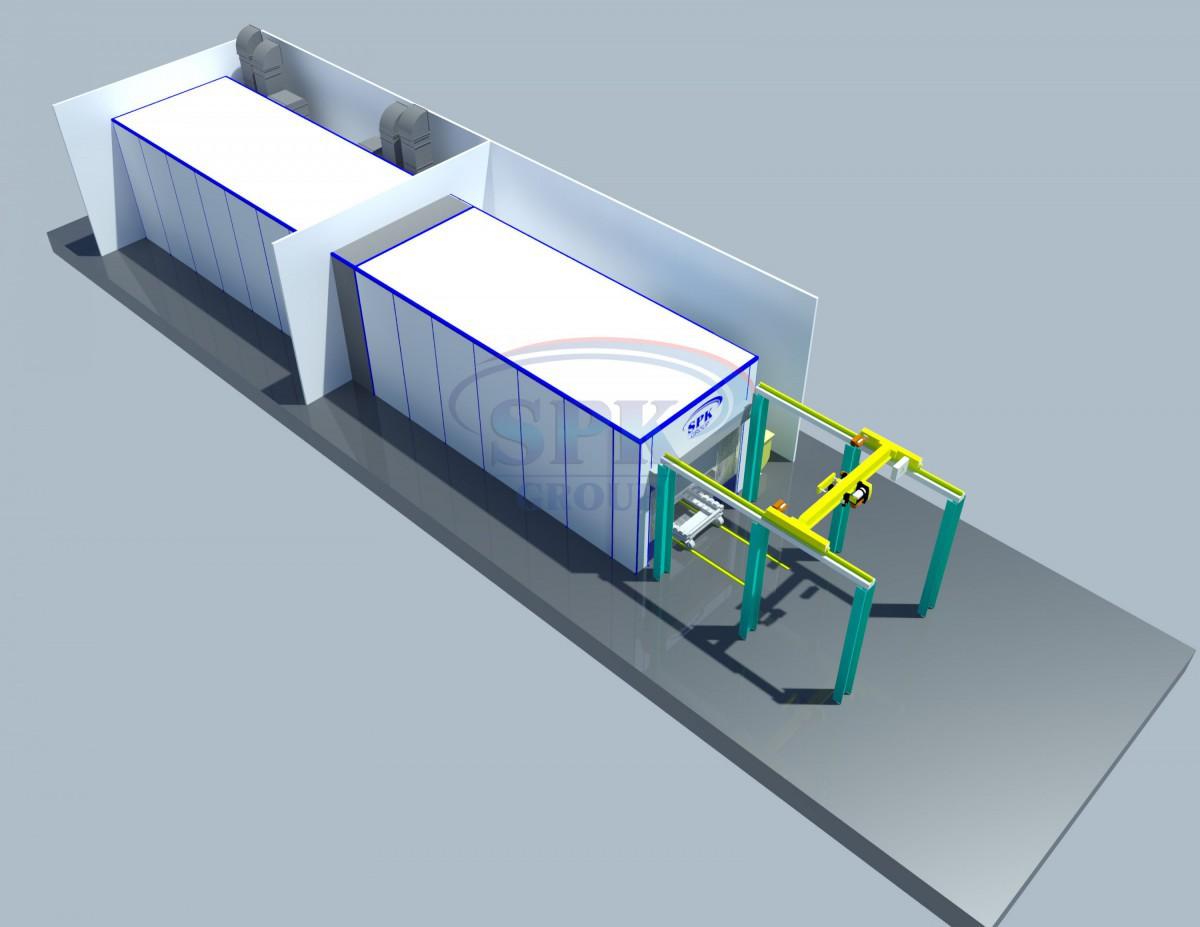 Комплекс подготовки и покраски поверхности для контейнеров  SPK-13.5.4