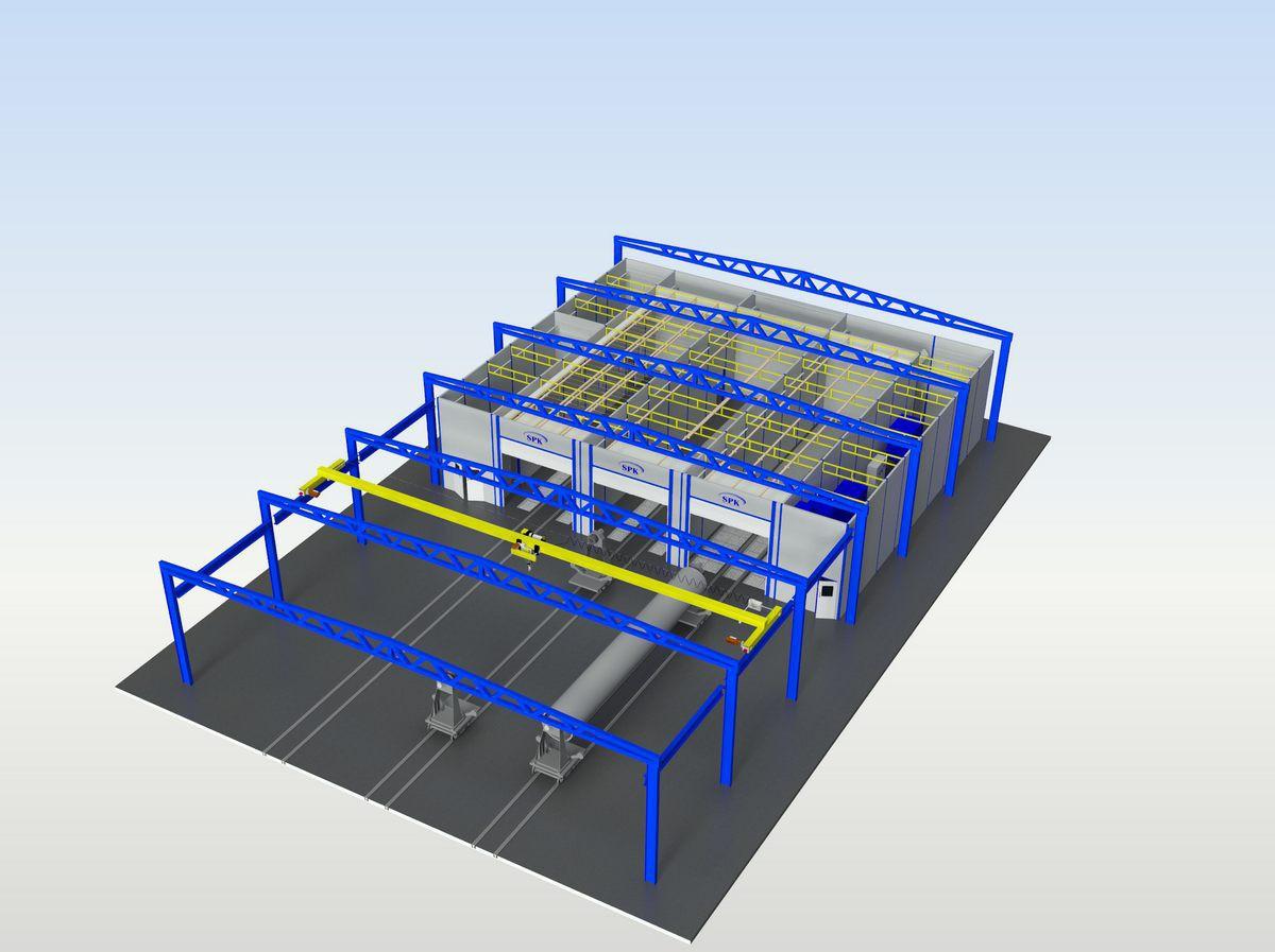 Комплекс подготовки поверхности для труб SPK-15.21.5