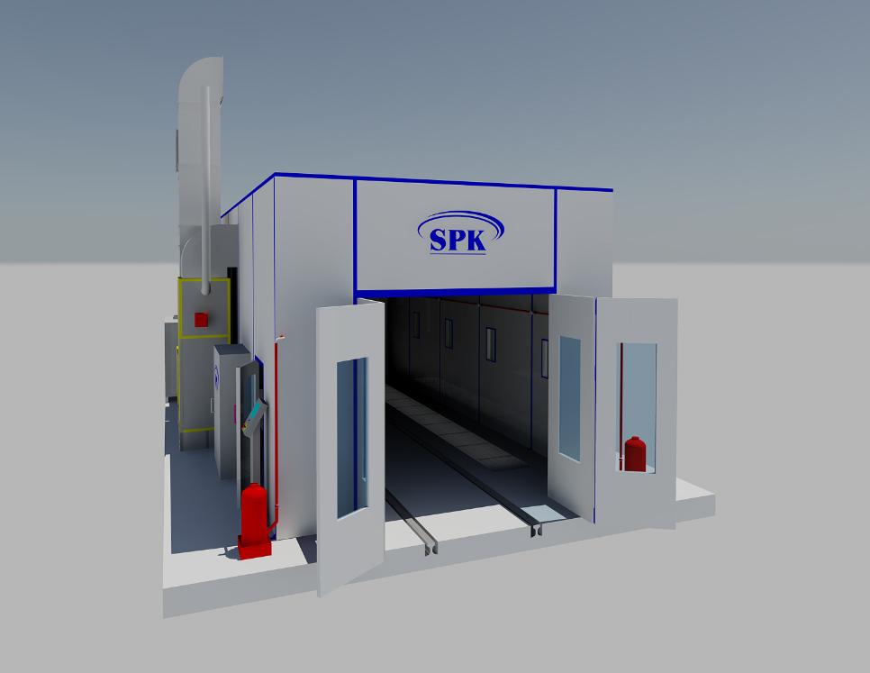 Покрасочная камера для нефтегазовой отрасли SPK-10.5.4