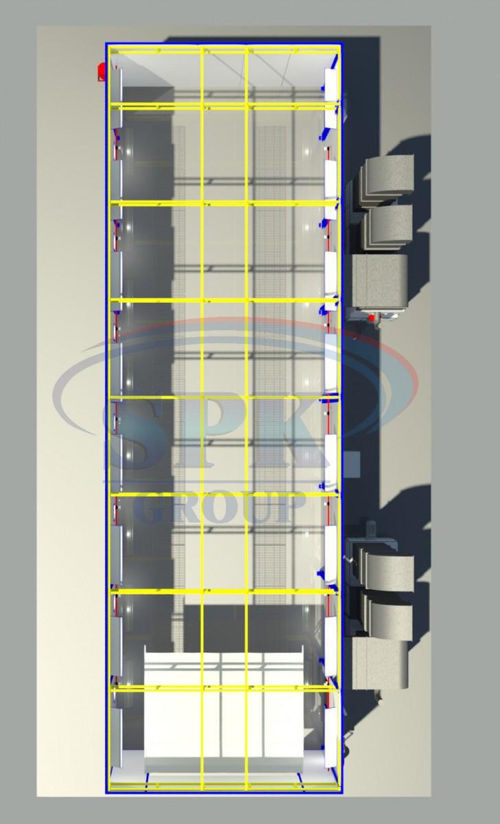 Тупиковая покрасочно-сушильная камера SPK-15.5.5