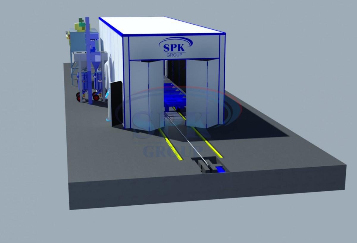 Дробеструйная камера тупикового типа  SPK-14.5.5