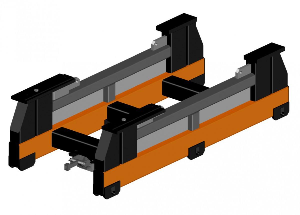 Рельсовая тележка для перевозки дизельного двигателя