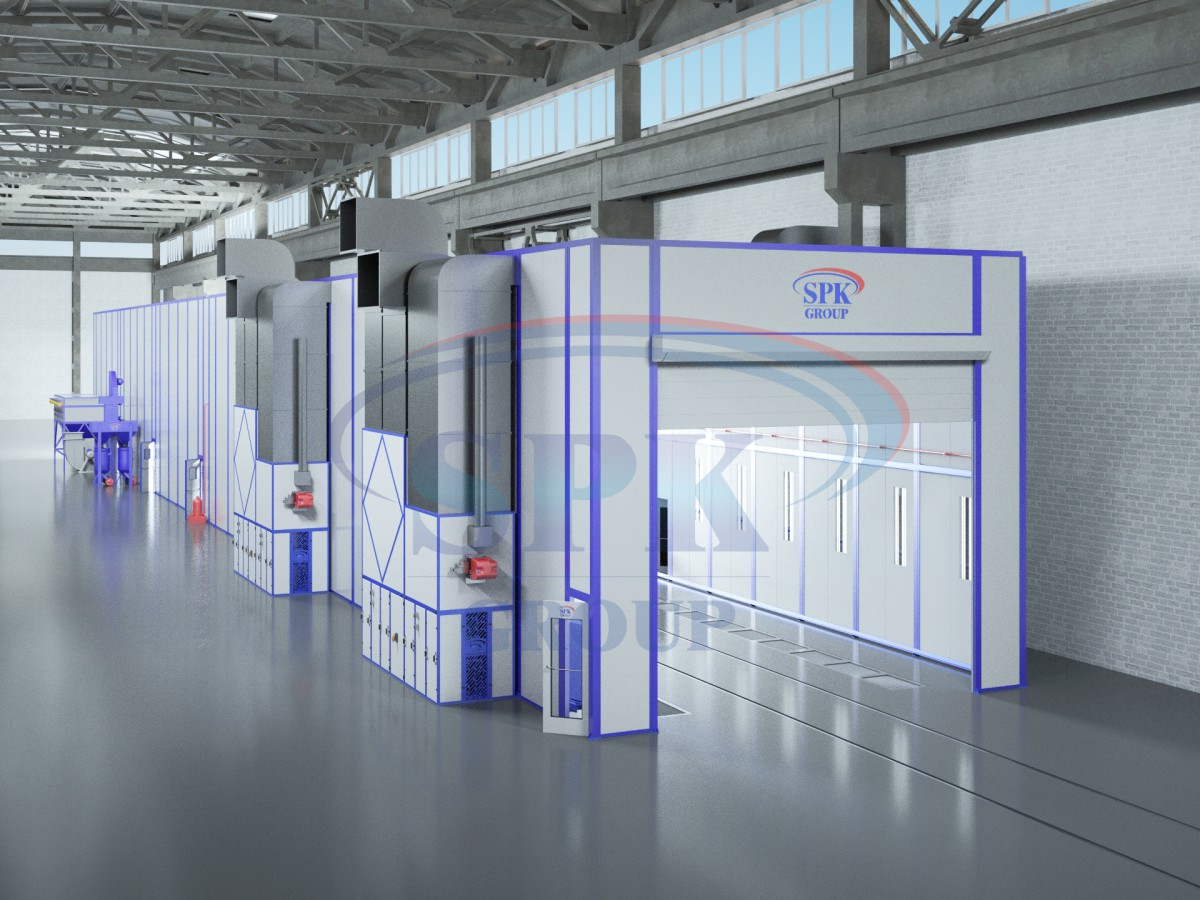 Комплекс подготовки и покраски для нефтепромыслового оборудования  SPK-30.7.6