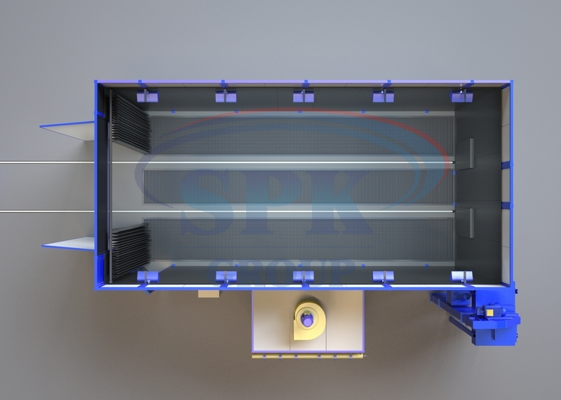 Покрасочно-сушильная камера для металла SPK-7.4.4