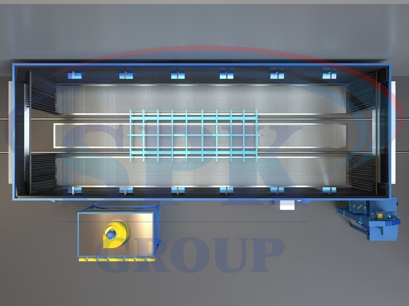Дробеструйная камера проходного типа SPK-14.5.4