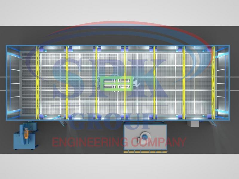 Дробеструйная камера проходного типа SPK-Р 15.5.4