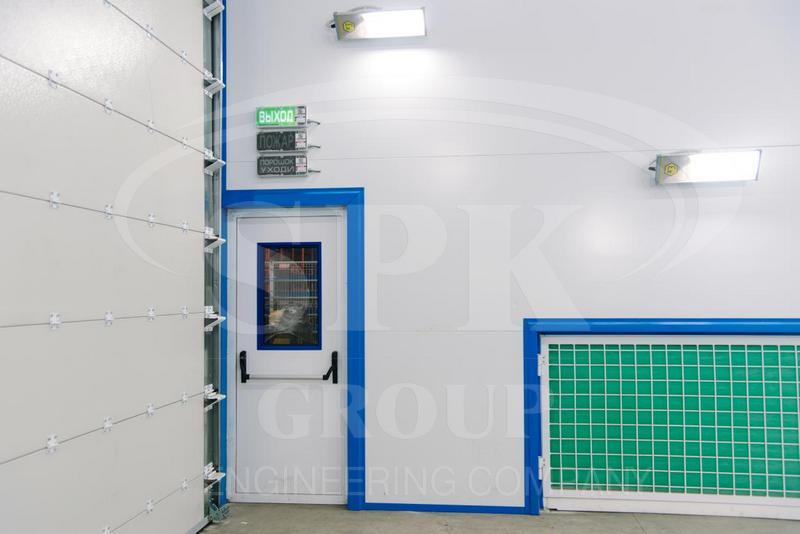 Проходная покрасочно-сушильная камера для металлоконструкций контейнерного типа SPK-15.6.6.
