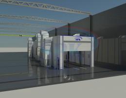 Покрасочный комплекс для машиностроения SPK-45.8.8