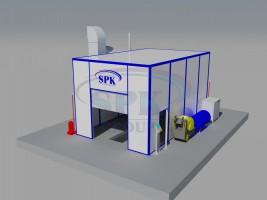 Проходная моечная камера для нефтегазовой отрасли SPK-8.5.4