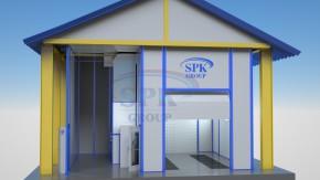 Окрасочно-сушильная камера проходного типа SPK-6.5.5